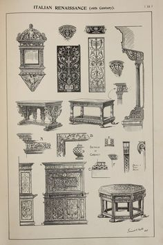 Italian Renaissance Furniture Designs Large by PaperPopinjay
