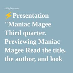 5 paragraph essay on maniac magee