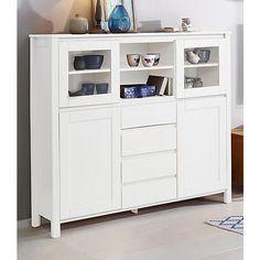 Home affaire Highboard »Kubo«, Breite 130 cm in zeitlosem Design Tall Cabinet Storage, Dresser, Furniture, Home Decor, Design, Kiefer, Products, Medium, Closet Storage