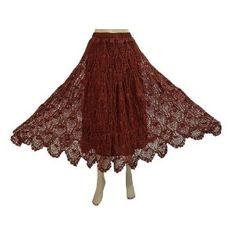 Women's Skirt Red Crochet Work Bohemian Gypsy Designer Skirts (Apparel)  http://www.amazon.com/dp/B00763KSNS/?tag=http://howtogetfaster.co.uk/jenks.php?p=B00763KSNS  B00763KSNS