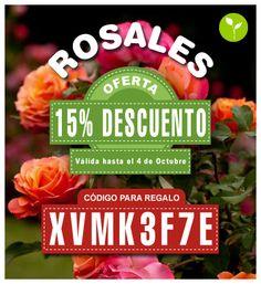 Los diez primeros clientes que adquieran la oferta de los Rosales recibirán un regalo sorpresa! Copia el código que aparece en la imagen y pégalo en el apartado de Vales de tu Carrito de Compra y el pedido llegará a tu casa con un regalo sorpresa.