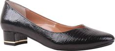 Women's J. Renee Bambalina Low Block Heel Pump - Black Lizard Print Patent Leather with FREE Shipping & Exchanges. Perfect for the transition between the office and dinner, the comfortable Bambalina Low Block Heel