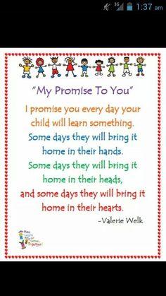 My promise to you More #startadaycare #daycareideas