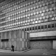 Photographer Andy Spain, captures the harsh cold Brutalist architecture in the UK. These buildings are evidence of modernism in a time where architecture wasn't dressed up, but left cold and honest for all to see. British Architecture, London Architecture, Concrete Architecture, Building Architecture, Modern Architecture, Brutalist Buildings, Concrete Building, Postmodernism, Facade