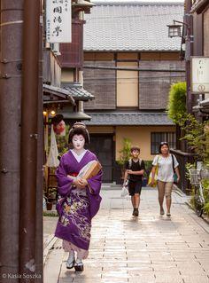 Geisha on her way to work