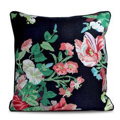 Black Floral Pillow. I mean this screams Vanessa Noel Events!