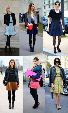 Transition Wardrobe to Spring - Try a Flippy Skirt - How to style the look http://www.focusonstyle.com/stylist-advice/transition-spring-flippy-skirt-style-the-look/