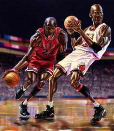 Wang Tao's Detailed Michael Jordan Art