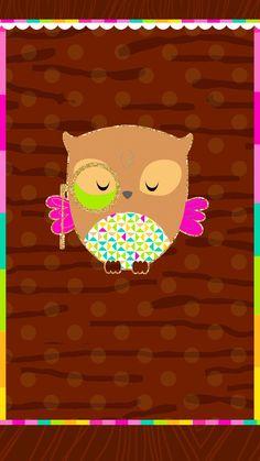 Cute Owls Wallpaper, Animal Print Wallpaper, Abstract Iphone Wallpaper, Owl Background, Aquarius Art, Paper Owls, Cute Wallpapers, Iphone Wallpapers, Kawaii Cute