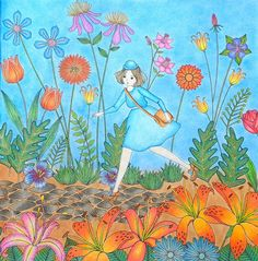 Wonderland close-up 2/2 #kolorowanki #coloriage #coloringforadults #colouringforadults #kolorowankidladoroslych…