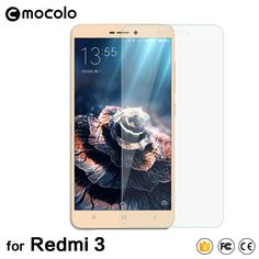 Mocolo New Arrival for Xiaomi Redmi 3S Tempered Glass Screen Protector 0.33mm Hongmi 3 Protective Film with Retail Packaging