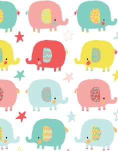 print & pattern blog - elephants by emma haines