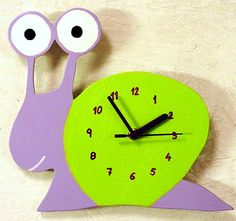 kids wall clock snail by VeseloVrijeme on Etsy