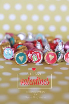 Bite Size Valentines at the crafting chicks. SO cute! free printable