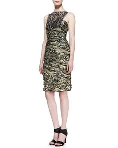 @roressclothes clothing ideas #women fashion Carmen Marc Valvo Sleeveless Lace Overlay Cocktail Dress