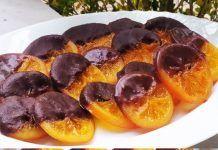 Καραμελωμένες φέτες πορτοκαλιού βουτηγμένες σε σοκολάτα Plum, Fruit, Food, Essen, Meals, Yemek, Eten