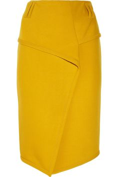 Proenza Schouler Wool-blend wrap-effect skirt - 65% Off Now at THE OUTNET