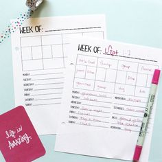 Free printable Project Life Planner