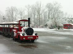 All Aboard! Brandywine Picnic Park - Spring Snow- Chester County, West Chester, PA 3/25/13