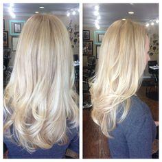 Bayalage light blonde hair  .. Yay! Berta@gypsy rose salon -San Jose