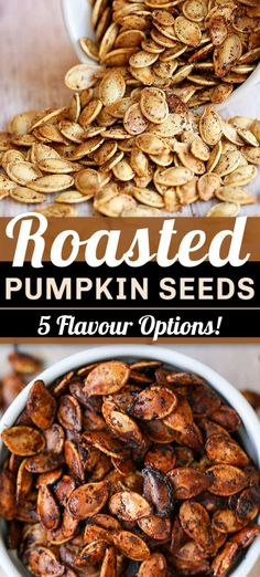 Our no-fail method for how to make the perfect roasted pumpkin seeds. An easy, healthy and crunchy snack. Plus, five simple seasoning options you have to try.#gluten-free#vegan Seasoned Pumpkin Seeds, Savory Pumpkin Seeds, Perfect Pumpkin Seeds, Homemade Pumpkin Seeds, Toasted Pumpkin Seeds, Roast Pumpkin, Baking Pumpkin Seeds, Easy Roasted Pumpkin Seeds, Pumpkin Spice Pumpkin Seeds