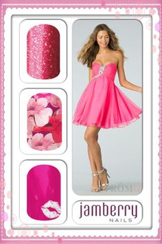 Pretty in pink for the Prom!!    Jamberry Nails www.allisonwebster.jamberrynails.net