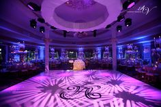 Imagine standing on the Dance floor with gobos plus blue uplighting. If you can imagine it you can enjoy having it!