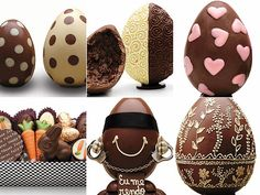 Glamorous: Páscoa Chocolate Heaven, Chocolate Art, Easter Chocolate, Egg Cake, Chocolate Sculptures, Cupcake Shops, Food Design, Easter Eggs, Food And Drink