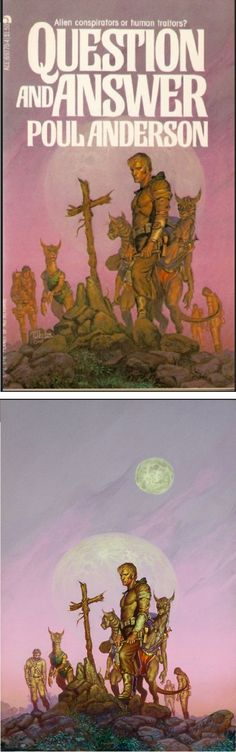 MICHAEL WHELAN - Question and Answer by Poul Anderson by 1978 Ace Books - cover by isfdb - print by michaelwhelan.com