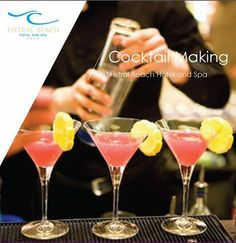 Cocktail making at Fistral Beach Hotel and Spa, Newquay http://www.fistralbeachhotel.co.uk/dine/bay-bar