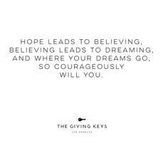 Belief is a choice. #TheGivingKeys