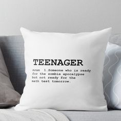 MEMES Teenager Definition Throw Pillow Brighton Handbags -Information when Shopping for Brighton Han Stupid Funny Memes, Funny Relatable Memes, Haha Funny, Funny Texts, Hilarious, Inappropriate Memes, Top Funny, Funny Humor, Funny Throw Pillows