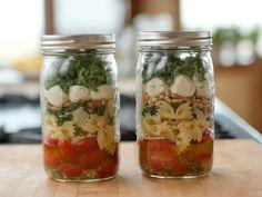 Get Kale-Pasta Mason Jar Salad Recipe from Food Network