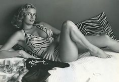 Anita Ekberg, 1950's Swedish actress