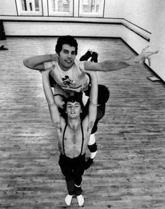 Freddie and The Royal Ballet rehearsing.