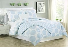 Max Studio 3pc King Duvet Cover Set Large Polka Dot Sky Blue White Large Circle Geometric Bedding Max Studio Home http://www.amazon.com/dp/B013C9YB2S/ref=cm_sw_r_pi_dp_GmGXvb1ADMBR3