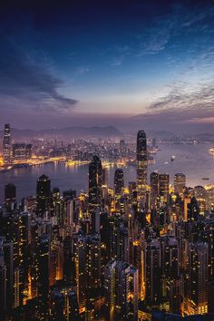 "italian-luxury: ""Sunrise over Hong Kong by Andy Luten "" Motivation Hall. Welcomes Andy Luten. Sharing,""Sunrise Over Hong Kong""! With inspired reaction. Ringing the gong& New York Wallpaper, City Wallpaper, City Aesthetic, Travel Aesthetic, Urban Aesthetic, Foto Glamour, City Vibe, New York Life, Dream City"