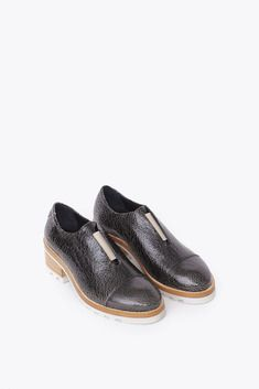 Acne Studios Meg Crackled Shoe in Black