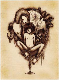 The mirror of devil 2012 pen on paper Devil, Paper, Illustration, Mirror, Art, Art Background, Illustrations, Kunst, Gcse Art
