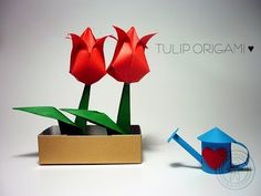 DIY Origami Tulip. En el blog encontraran más tips ♥ ... ... Tutorial: DIY Origami Tulip Facebook: ... Twitter: ...