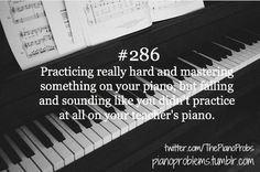 This is a very real problem for piano students! Having been there and done that, I have sympathy for my students. :) #pianoproblems