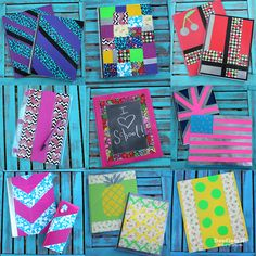 Go Back to School in style with Duck Tape!  #ducktoschool #ad Decorate folders, notebooks and pencil cases to match!