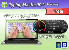 Typing Master Crack or typing master pro crack have a lot unique Ideas for users who wants to do increase typing Speeds. it's also call Typing Master 10 Typing Master, Learn To Type, Speed Typing, Typing Skills, Ms Office Suite, Master Key, Speed Test, Better Posture, Good Environment