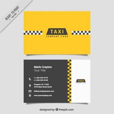 Taxi service business card free vector business cards pinterest resultado de imagen para plantillas tarjetas de presentacion para taxistas colourmoves