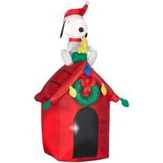 Gemmy Christmas Airblown Inflatable Snoopy and Woodstock, #85764X