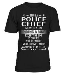 Tshirt  Being a Police Chief is Easy  fashion for men #tshirtforwomen #tshirtfashion #tshirtforwoment