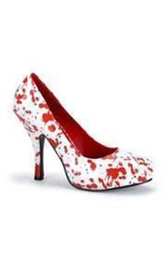 Creepy cute blood splattered heels. The perfect finishing touch to your outfit. £39.99