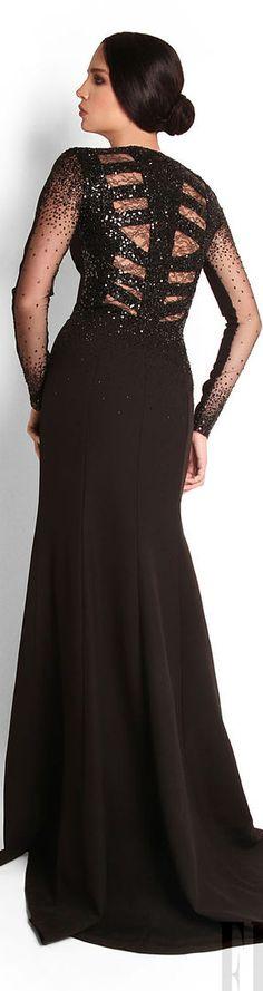 Georges Hobeika / Fall Winter 2012-2013. #large #elegant #black #dress