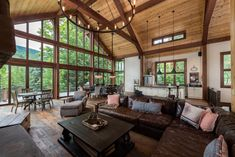 Catskill Lodge - Yankee Barn Homes Yankee Barn Homes, A Frame House, Interior Exterior, Architect Design, Architecture, My Dream Home, Great Rooms, Future House, Planer