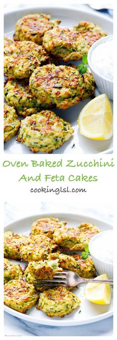 Oven Baked Zucchini And Feta Fritters - so light, simple to make and very addictive. Healthy and delicious, family favorite. Oven Baked Zucchini And Feta Fritters - so light, simple to make and very addictive. Healthy and delicious, family favorite. Veggie Recipes, Cooking Recipes, Low Fat Vegetarian Recipes, Recipes Dinner, Catering Recipes, Feta Cheese Recipes, Vegetarian Zucchini Slice, Simple Vegetable Recipes, Family Vegetarian Meals